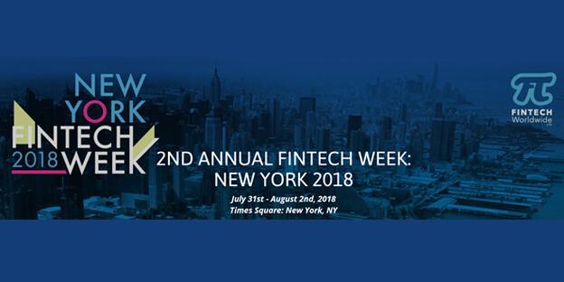 Victor Samuel speaks at the New York Fintech Week 2018